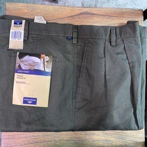 40 32 Dockers Linen Pants Men's Olive Green